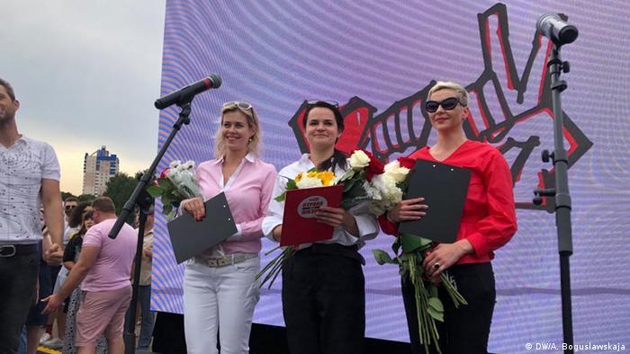 Вероника Цепкало, Светлана Тихановская, Мария Колесникова