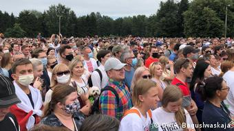 Оппозиционный митинг в Минске, 19 июля