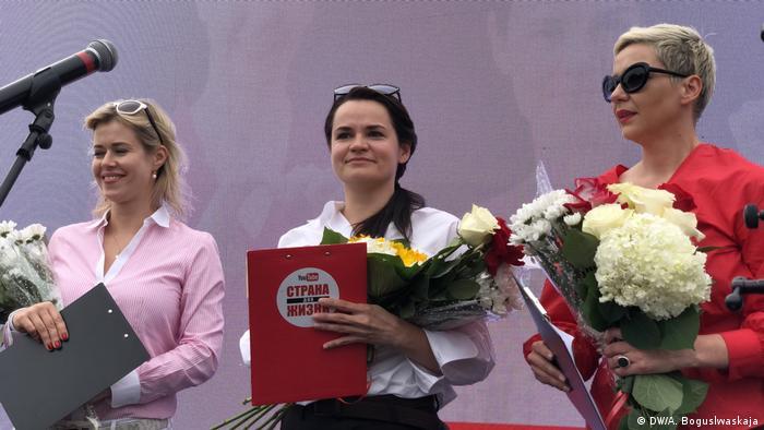 Вероника Цепкало, Светлана Тихановская и Мария Колесникова