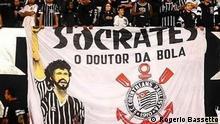 Brasilien Sao Paolo | Fans Corinthians São Paulo, Protest gegen Bolsonaro