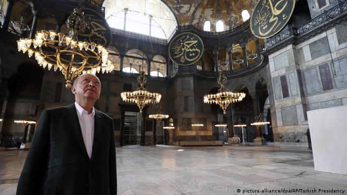 Erdogan bei einem Besuch der Hagia Sophia am 19. Juli