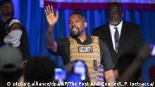 USA Wahlveranstaltung Rapper Kanye West