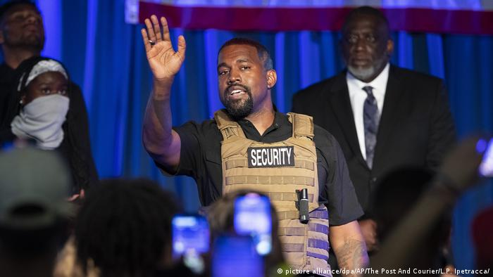 Kanye West launches presidential bid with chaotic rally | News | DW | 20.07. 2020