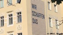 Berlin-Mitte Bergstraße Wir schaffen das an Hauswand