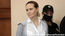 KYIV, UKRAINE - JULY 13, 2020 - Doctor and volunteer Yulia Kuzmenko, a suspect in the murder case of journalist Pavel Sheremet, attends a hearing to revise the restrictive measure at the Pecherskyi District Court, Kyiv, capital of Ukraine. |
