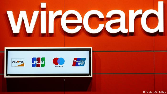 Cartel con logo de Wirecard.