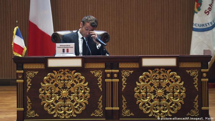 Mauretanien G5 Gipfel französischer Präsident Emmanuel Macro (picture-alliance/AP Images/L. Marin)