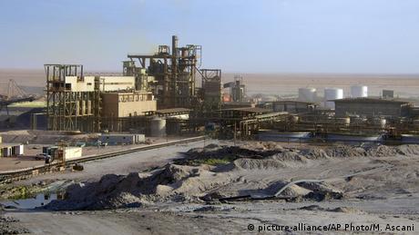 French uranium mine in in Arlit, Niger