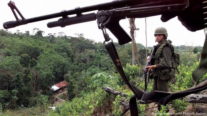 Presencia del Ejército colombiano en La Gabarra, Catatumbo.