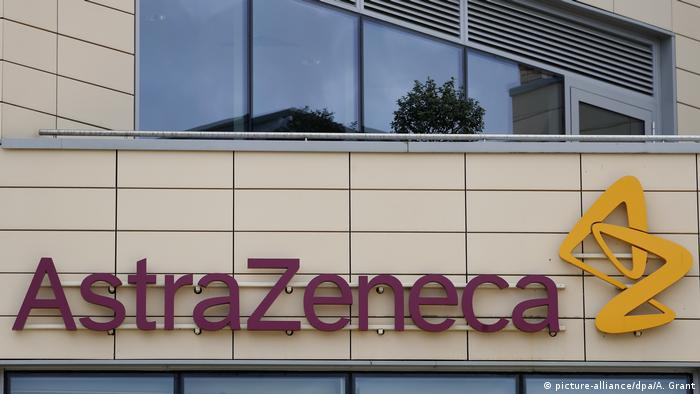 Logo de la firma AstraZeneca.