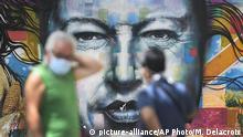 Venezuela Corona-Pandemie | Mural Chavez