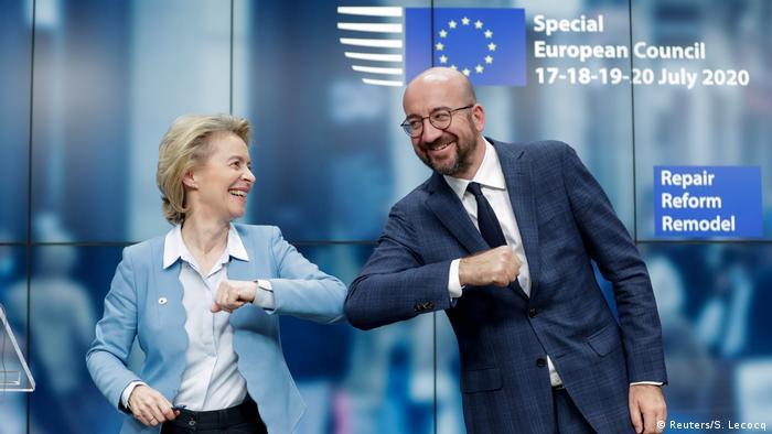 European Council President Charles Michel and European Commission President Ursula Von Der Leyen