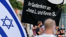 Deutschland Vor Terrorprozess - Kundgebung in Halle