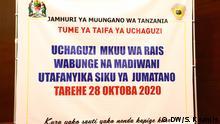 Afrika Tansania Präsidentschaftswahlen 2020