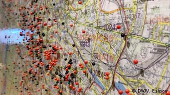 Карта Берлина с местами обнаружения неразорвавшихся бомб