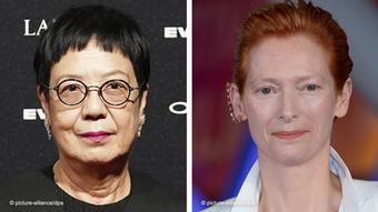 Regisseurin Ann Hui und Schauspielerin Tilda Swinton