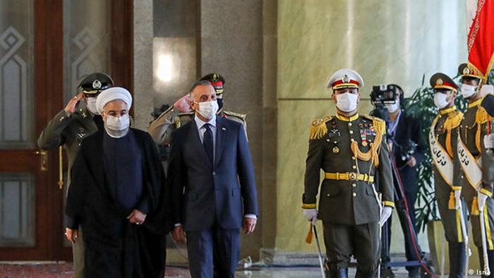 کاظمی مورد استقبال رسمی حسن روحانی قرار گرفت