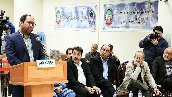 علی اشرف ریاحی در جلسه دادگاه پتروشیمی، اسفند ۹۷