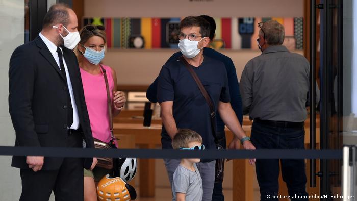 Österreich Corona-Pandemie Geschäft in Wien