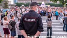Russland Putin setzt inhaftierten Gouverneur von Chabarowsk ab | Protest
