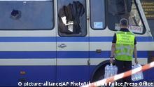 Ukraine Lutsk | Geiselnahme | Polizei versorgt Geiseln
