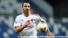 Italien I Fußball I Sassuolo vs Milan I Zlatan Ibrahimovic