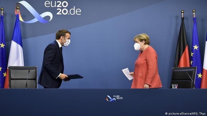 EU-Sondergipfel zur Bewältigung der Corona-Wirtschaftskrise (picture-alliance/AP/J. Thys)