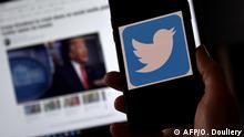 Twitter sperrt QAnon-Plattformen (AFP/O. Douliery)
