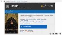 Screenshot imdb.com Serie Tehran