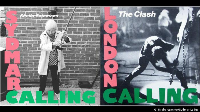 Шейла Саломонс для обкладинки The Clash
