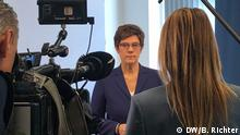 Annegret Kramp-Karrenbauer im DW Interview