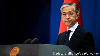 China Sprecher Außenministerium Wang Wenbin (picture-alliance/dpa/A. Ivanov)