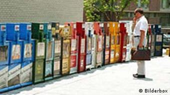 Amerikanische Zeitungen in Automaten