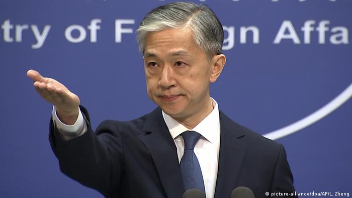 Wang Wenbin, the Chinese foreign ministry spokesperson, used a media briefing to hit out at the US withdrawal and possible Western sanctions.