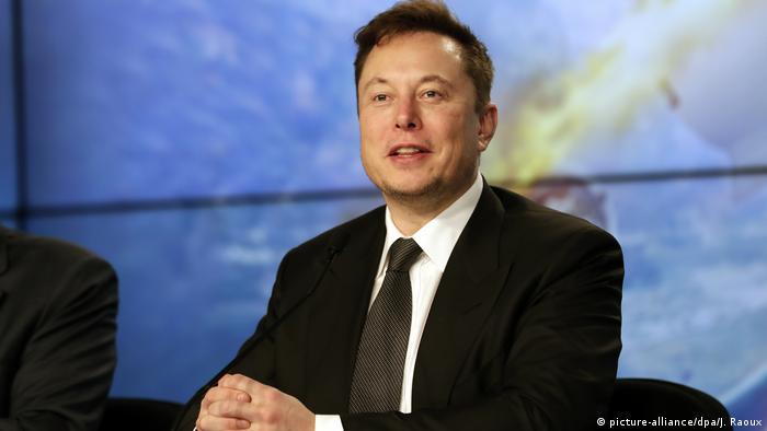 Elon Musk, Chef von Tesla und SpaceX, während einer Pressekonferenz