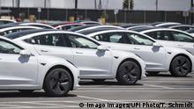 Automobil der Marke Tesla