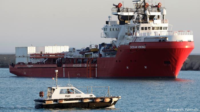 Italien setzt Rettungsschiff Ocean Viking fest