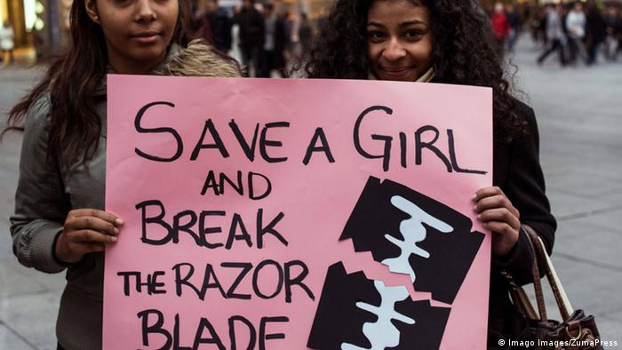 Protest gegen Weibliche Genitalverstümmelung