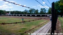 Barbed wire fence is seen at the former Nazi Death Camp Stutthof, in Sztutowo, July 21, 2020. - The pyres of burning bodies in the forests around Nazi Germany's Stutthof concentration camp still haunt 93-year-old Marek Dunin-Wasowicz, a crucial witness in the trial of former SS guard Bruno Dey which is expected to close on July 23, 2020. (Photo by Wojtek RADWANSKI / AFP) (Photo by WOJTEK RADWANSKI/AFP via Getty Images)
