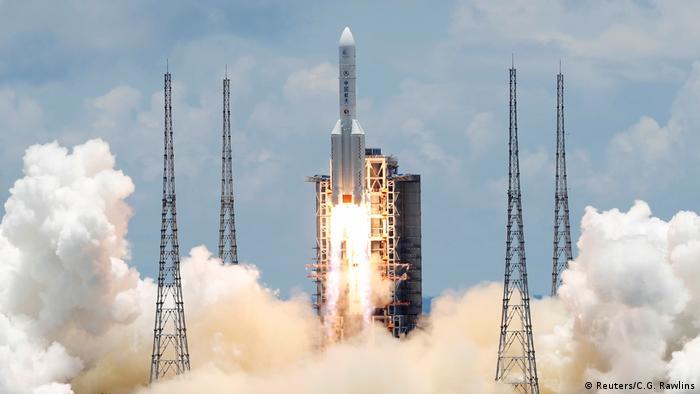 China Raketen-Start Tianwen-1-Mission zum Mars