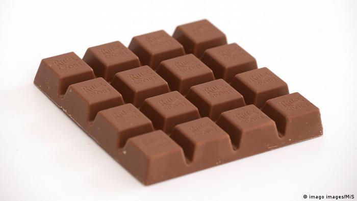 The square shape of the Ritter Sport has nothing to do with its taste