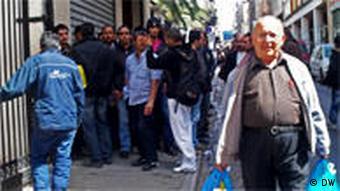 Armut in Athen Griechenland