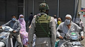 Paramilitary troopers are a normal sight in the capital, Srinagar