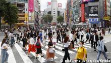 Japan Tokyo   Coronavirus   Steigende Fallzahlen