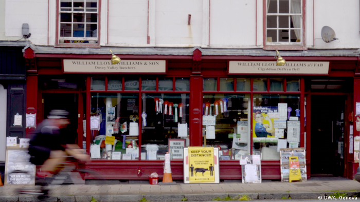 William Lloyd Williams butchers' shop, Machynlleth, Wales