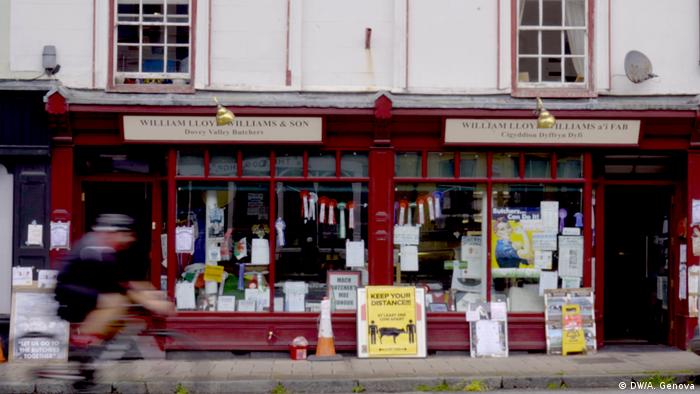 Açougue de William Lloyd Williams em Machhynlleth, no País de Gales