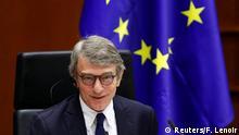European Parliament President David Sassoli attends an extraordinary plenary session of the EU Parliament following an EU leaders summit, in Brussels, Belgium July 23, 2020. REUTERS/Francois Lenoir