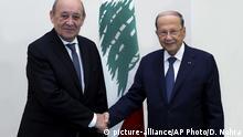 Libanon Beirut | Beziehung Frankreich | Jean-Yves Le Drian