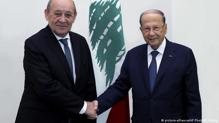 أكد رئيس الوزراء اللبناني، حسان دياب، خلال لقائه لودريان أن لبنان ينظر إلى فرنسا كصديق تاريخي، وهو على ثقة أنها لن تتخلى عنه اليوم، ويتمنى مساعدة فرنسا له على عدة أصعدة.