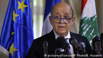 Libanon Beirut   Beziehung Frankreich   Jean-Yves Le Drian (picture-alliance/AP Photo/B. Hussein)